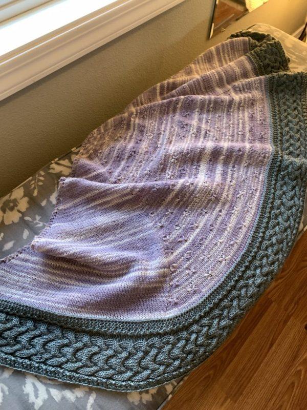 Longbourn shawl in window